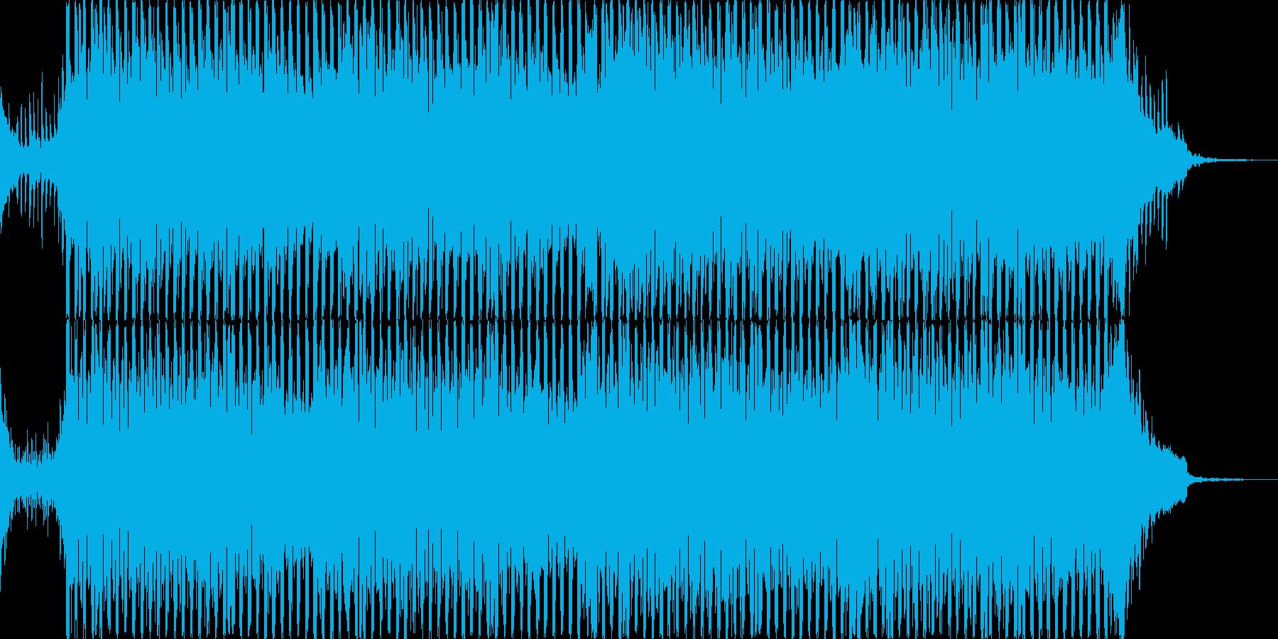 壮大なピアノとストリングスの軽めのテクノの再生済みの波形
