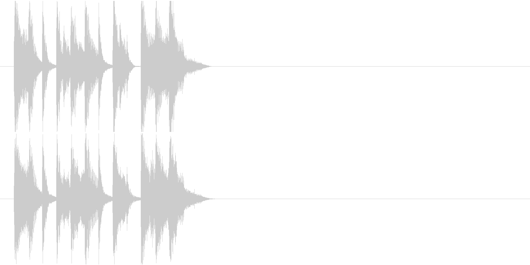 情報 CM イベント クイズ 軽快 元気の未再生の波形