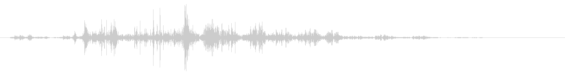 ネバネバ、ヌメヌメとした不気味な音A#4の未再生の波形