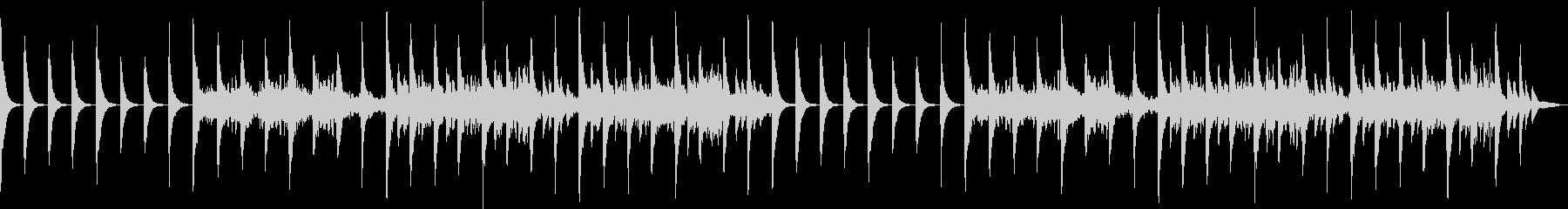 ピアノの心地良い音楽の未再生の波形