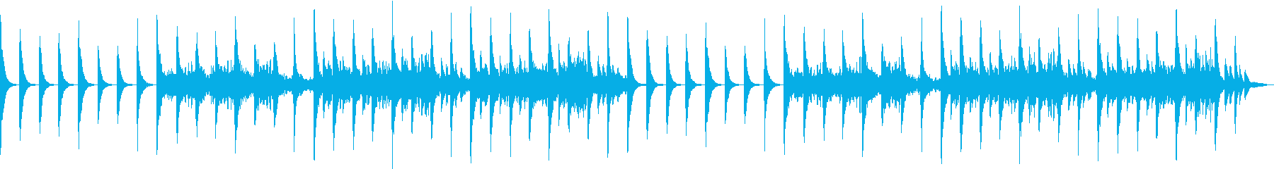 ピアノの心地良い音楽の再生済みの波形