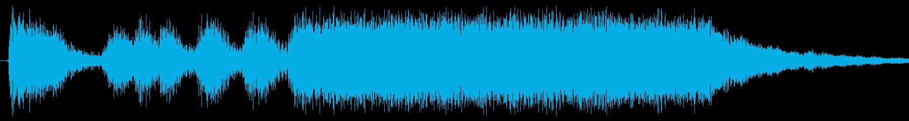 ゲームでステージクリアに使う曲の再生済みの波形