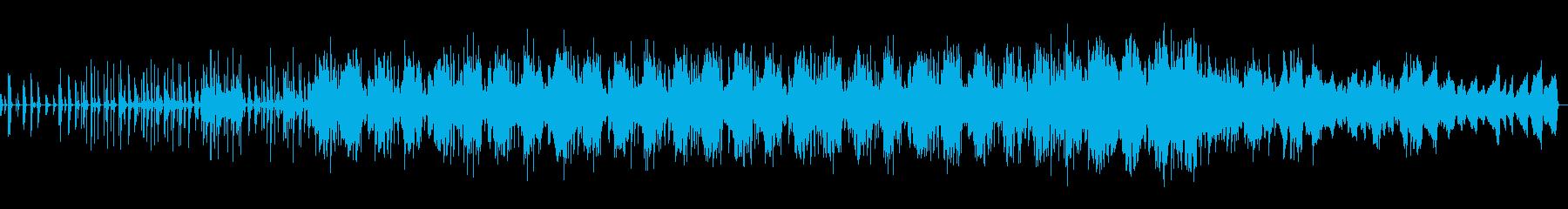 幻想的なヒーリングミュージックの再生済みの波形