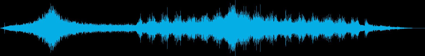 【生録音】車や電車が通る 都会の喧騒の再生済みの波形