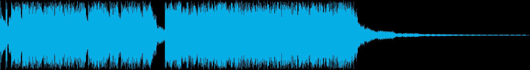 ロック調のジングルです。の再生済みの波形