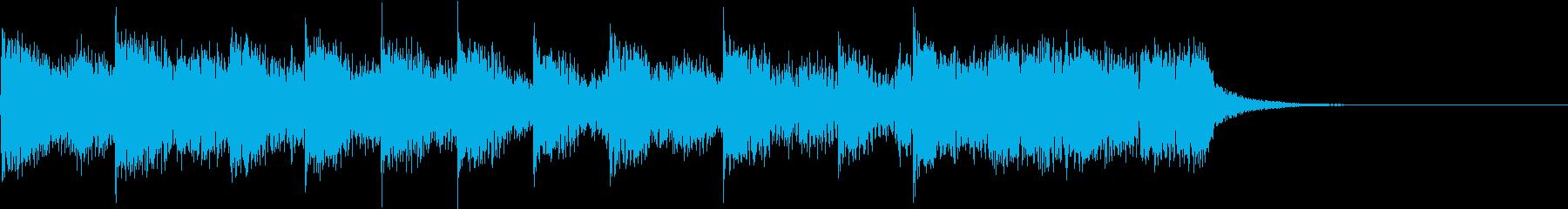 和太鼓と尺八、おごそか シンプルで荘厳の再生済みの波形