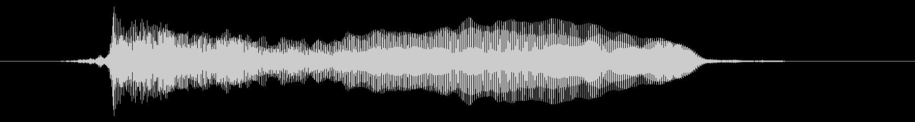 猫の鳴き声の未再生の波形