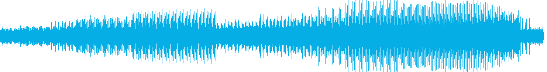 無機質ながら緊迫感のあるミニマルテクノの再生済みの波形