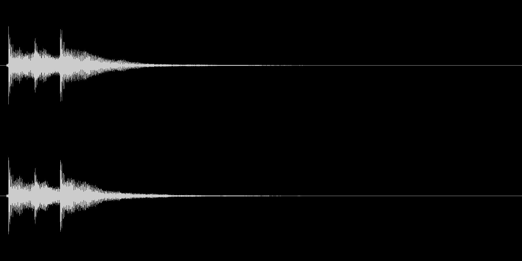 テケテン(和風決定音、三味線)の未再生の波形