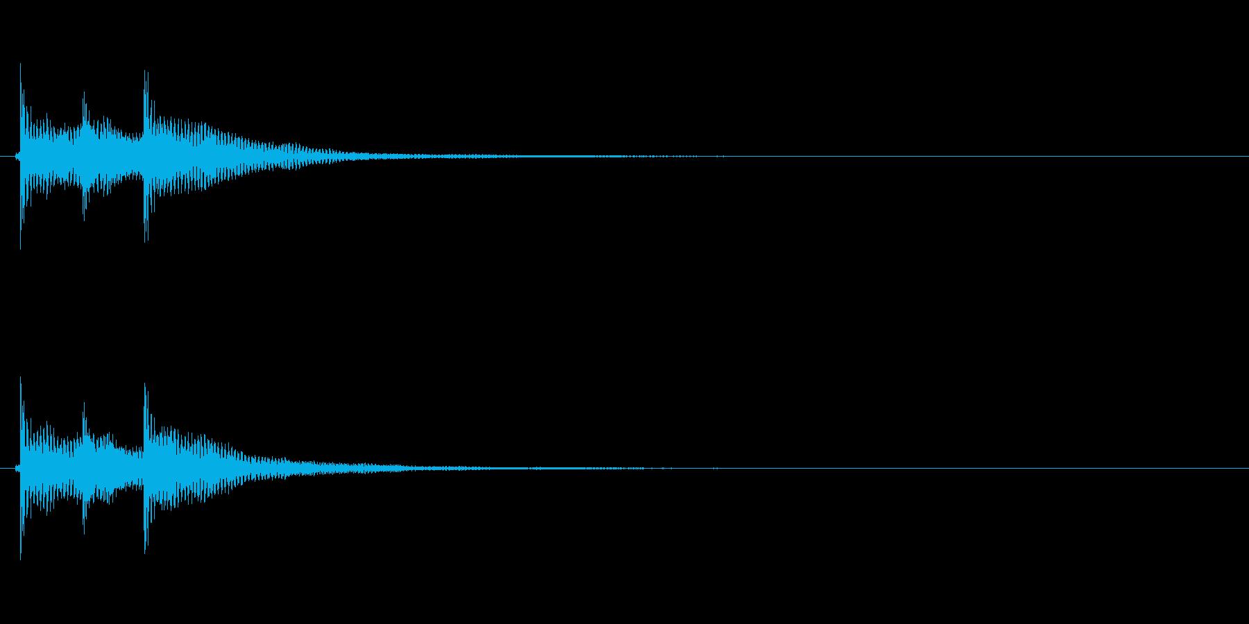 テケテン(和風決定音、三味線)の再生済みの波形