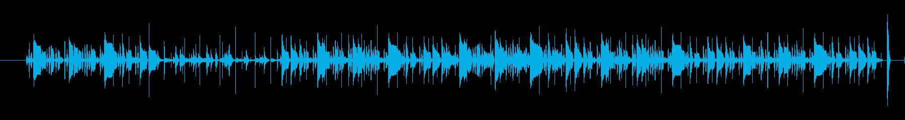 アコースティックギターの効いたジャズの曲の再生済みの波形