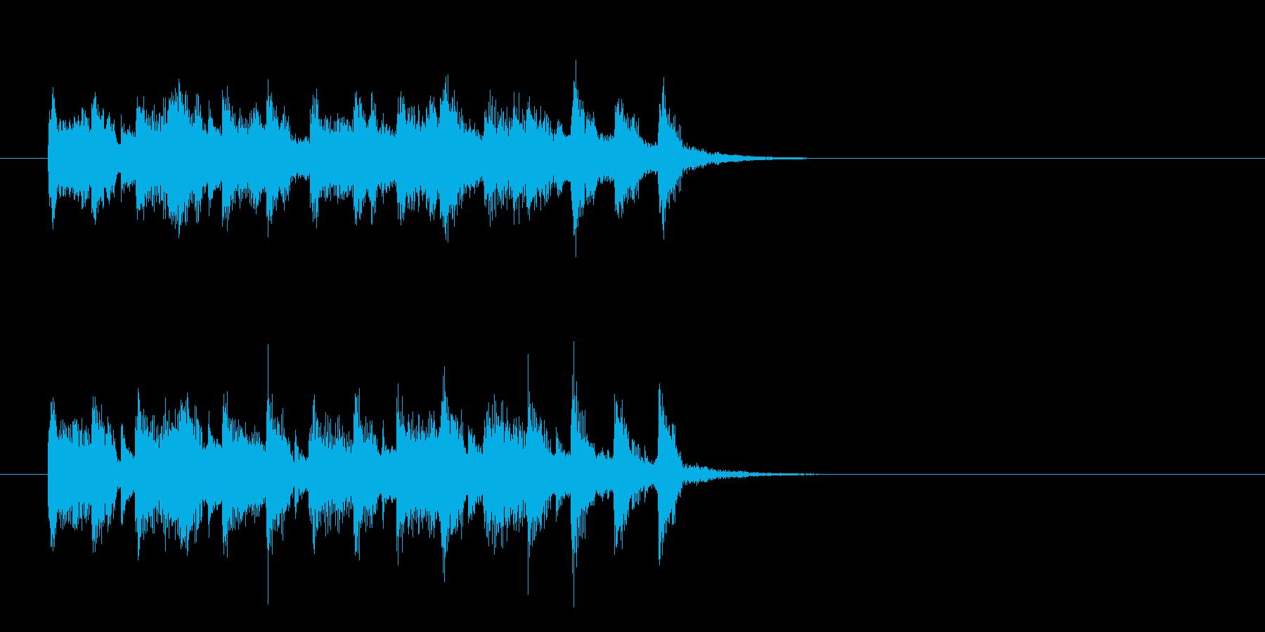 ジングル(奥様、子供向け)の再生済みの波形