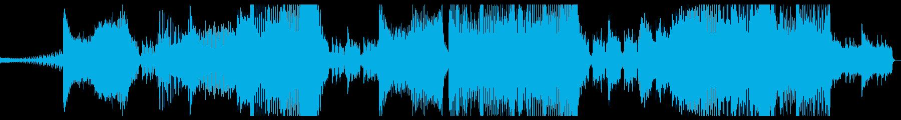 明るく元気のあるEDM風BGMの再生済みの波形