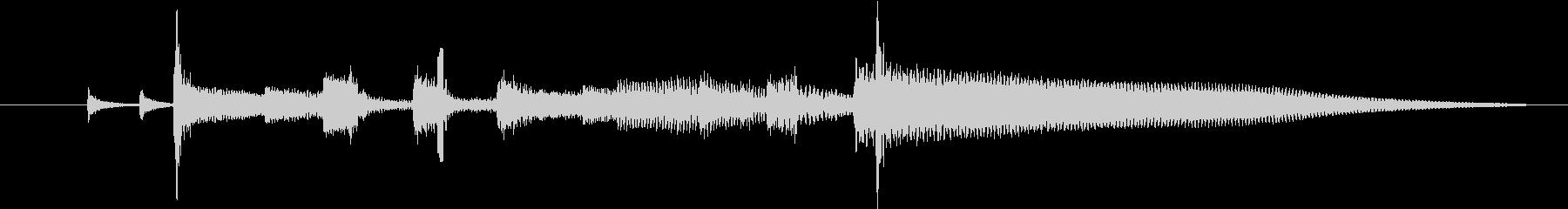 お洒落なジャズ調のジングルですの未再生の波形