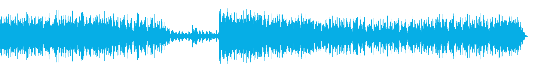 ダンサブルでダークなシンセサウンドの再生済みの波形