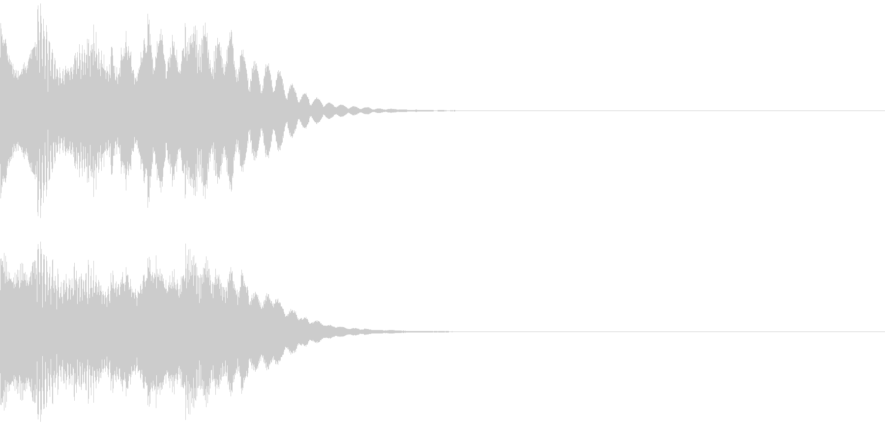タラララララン ポジティブな音 発見の未再生の波形