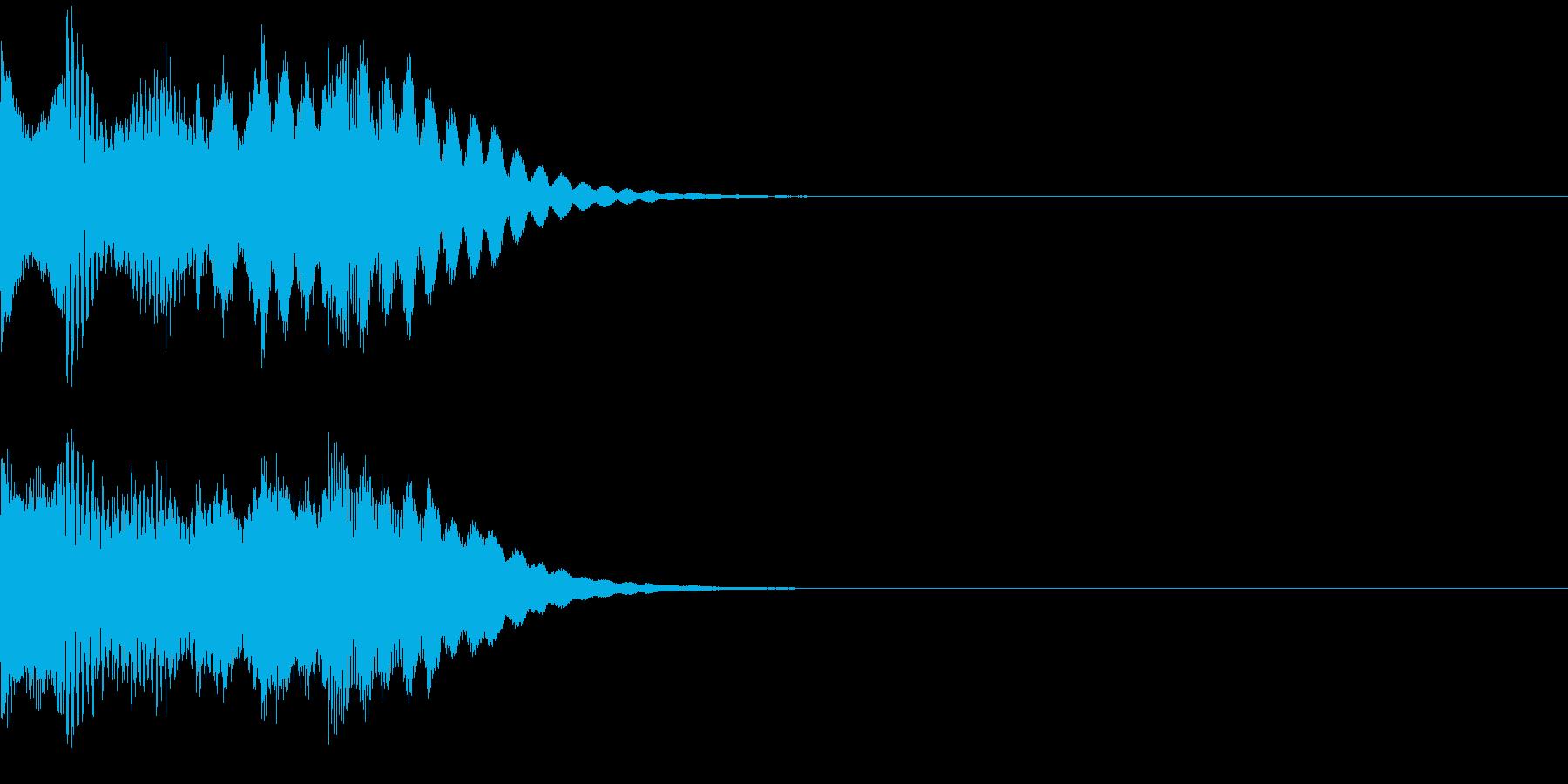 タラララララン ポジティブな音 発見の再生済みの波形