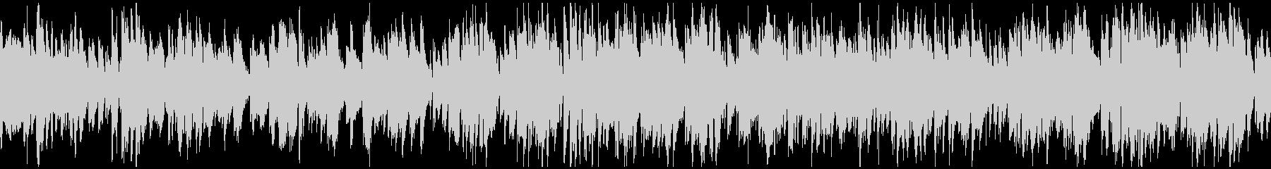 明るい軽快なテンポ感のジャズ ※ループ版の未再生の波形