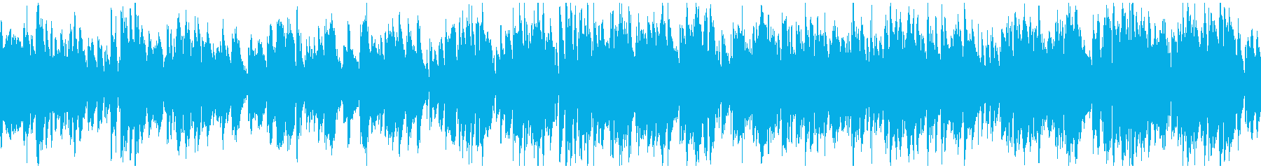 明るい軽快なテンポ感のジャズ ※ループ版の再生済みの波形