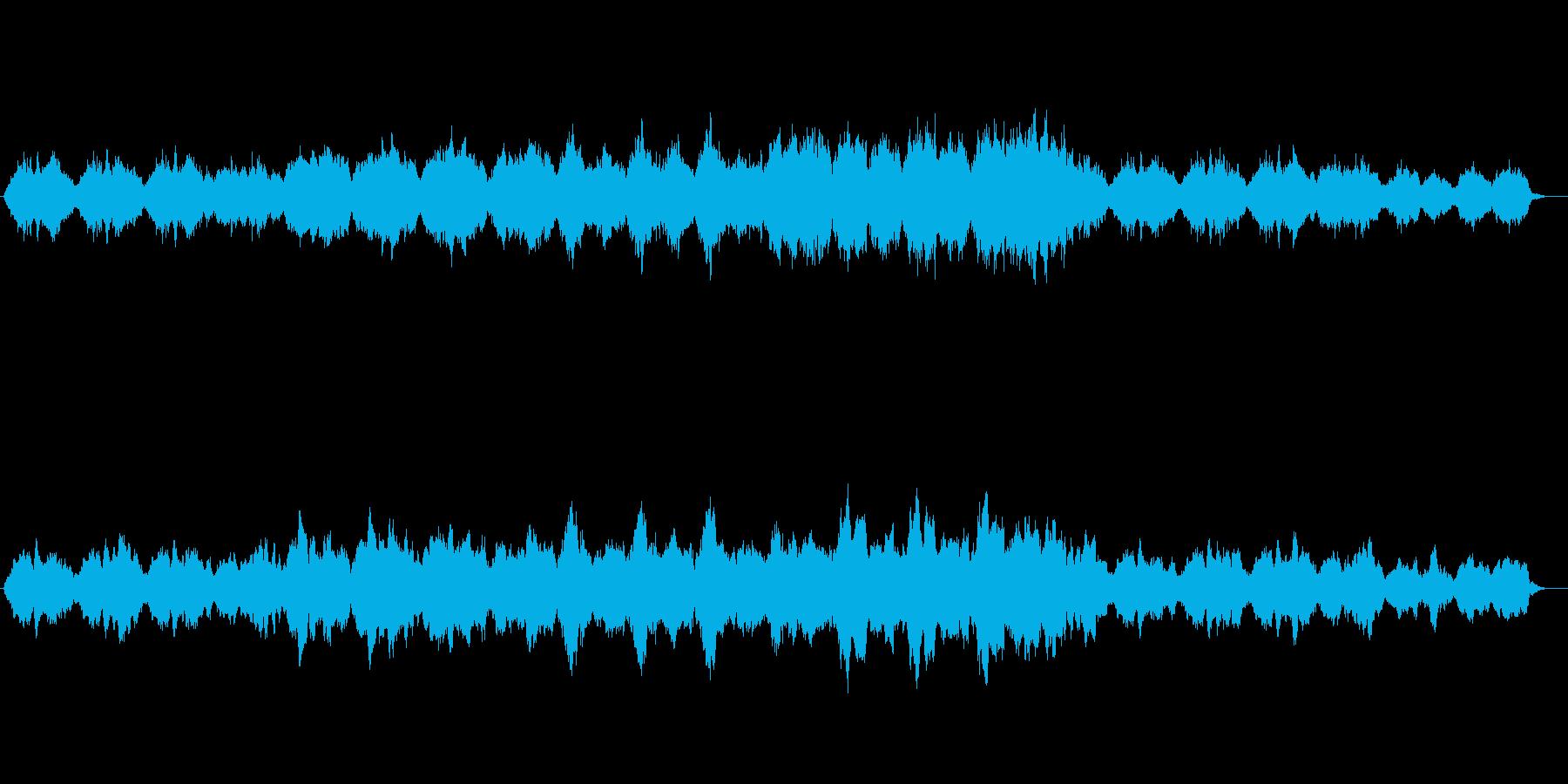 悲しくゆったりとしたストリングスの再生済みの波形