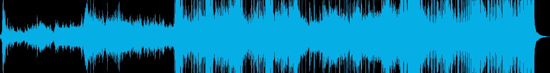 テクノフィールの近未来的無機質サウンドの再生済みの波形