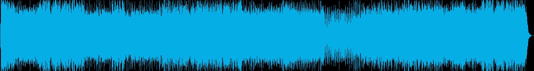 デスボイスと攻撃的な疾走感のあるメタルの再生済みの波形