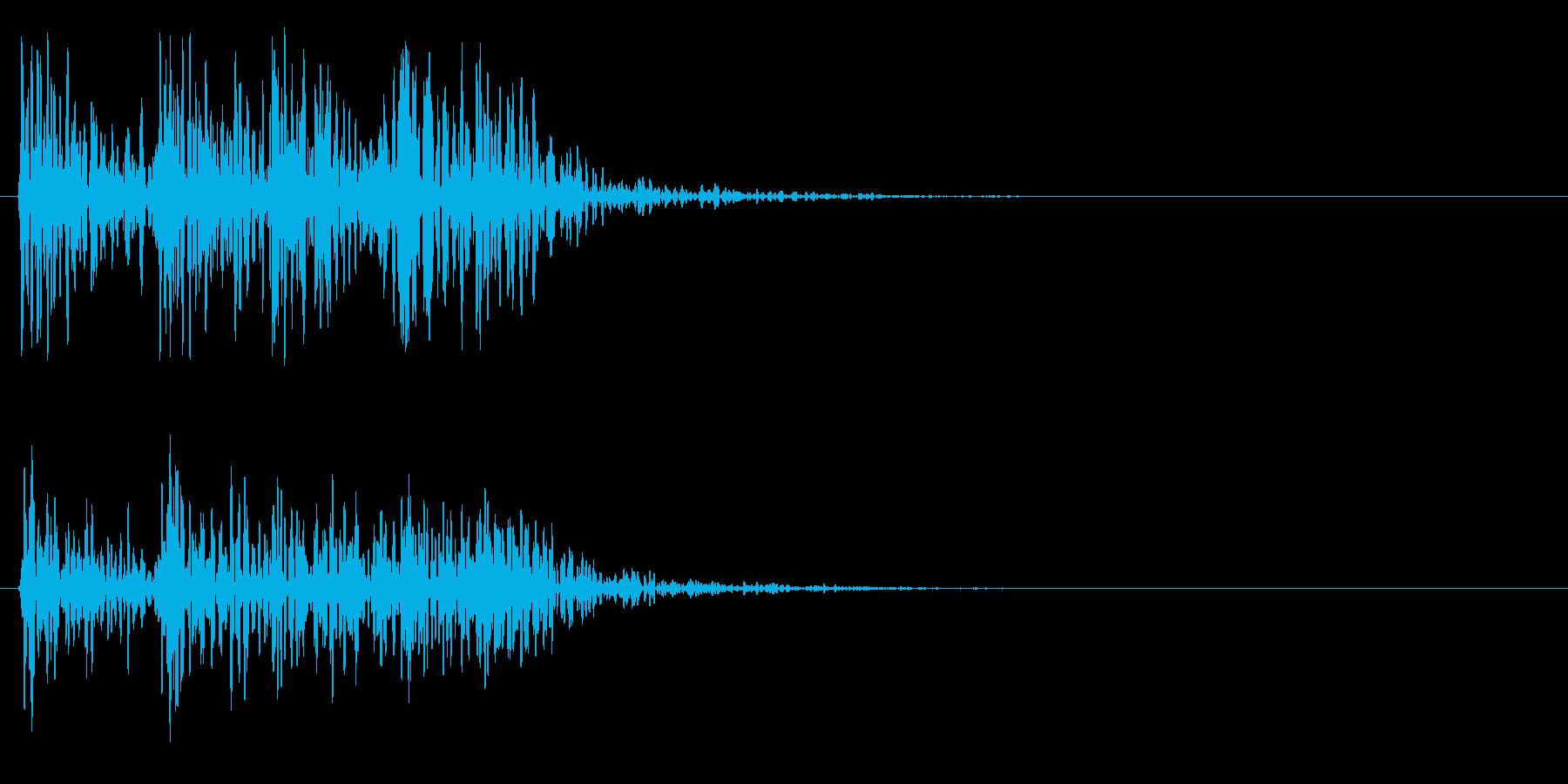 ドンドンドンドン(ドア、ノック、叩く)の再生済みの波形