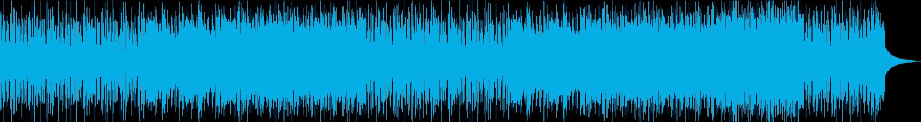 ピアノトリオによるパンチの効いたロックの再生済みの波形