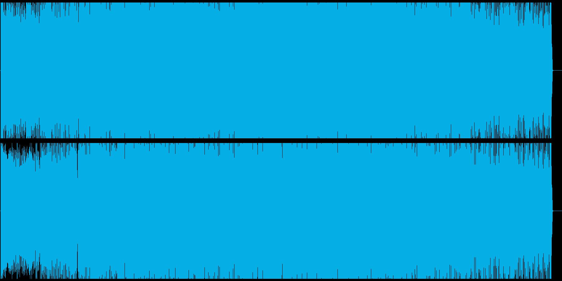 ピアノを使った派手なテクノの再生済みの波形