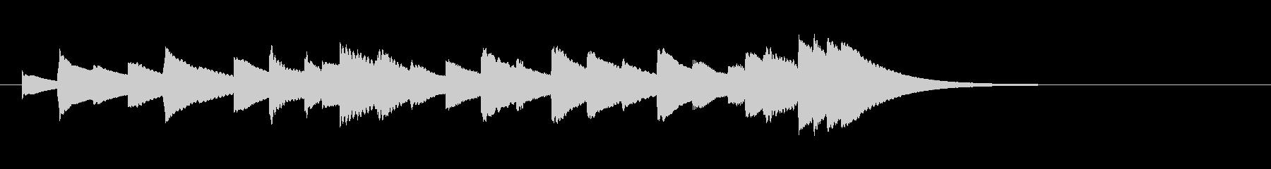 かっこうワルツ(ヨナーソン作)オルゴールの未再生の波形
