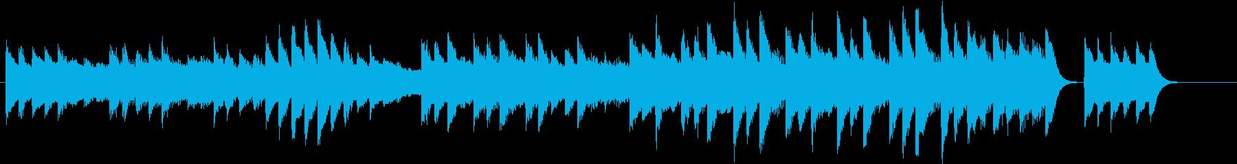 ジングルベルモチーフのピアノジングルFの再生済みの波形