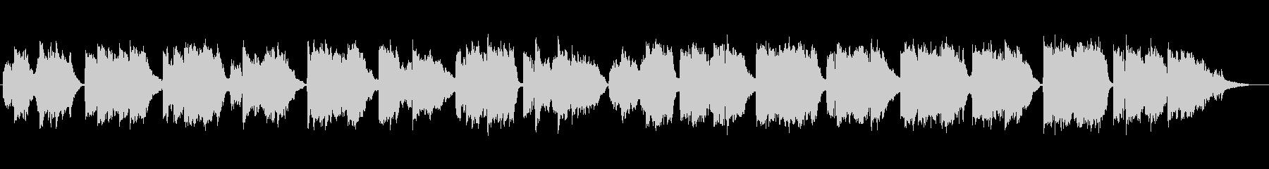 童謡「朧月夜」の篠笛生演奏の未再生の波形