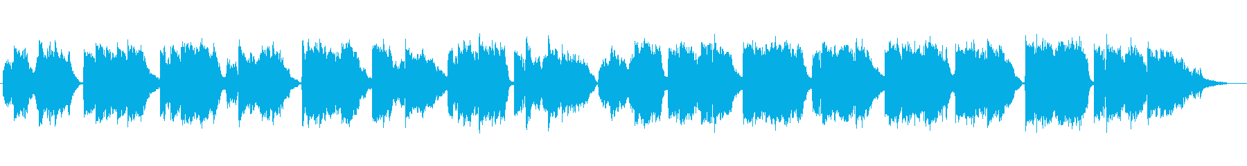 童謡「朧月夜」の篠笛生演奏の再生済みの波形