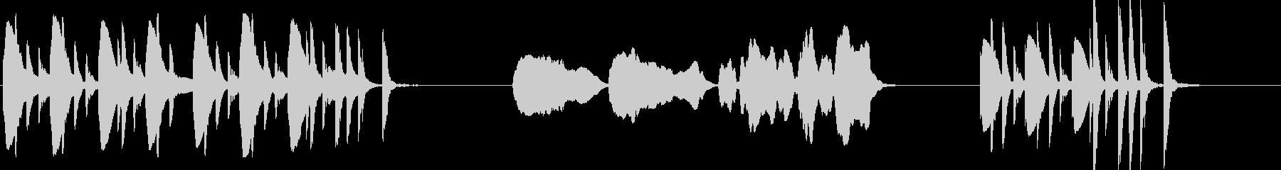 孤独のグルメ風なコミカル木琴とフルートの未再生の波形