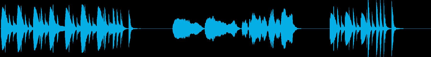 孤独のグルメ風なコミカル木琴とフルートの再生済みの波形