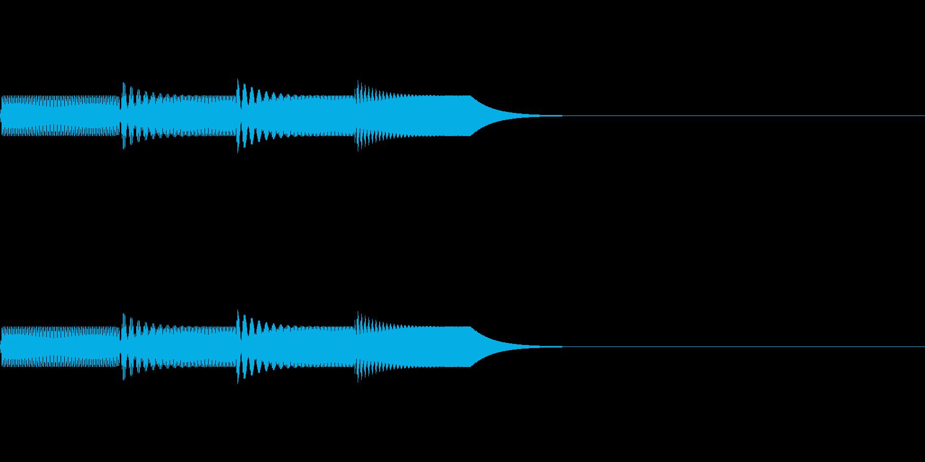 シンプルな起動音:アプリやガジェットなどの再生済みの波形