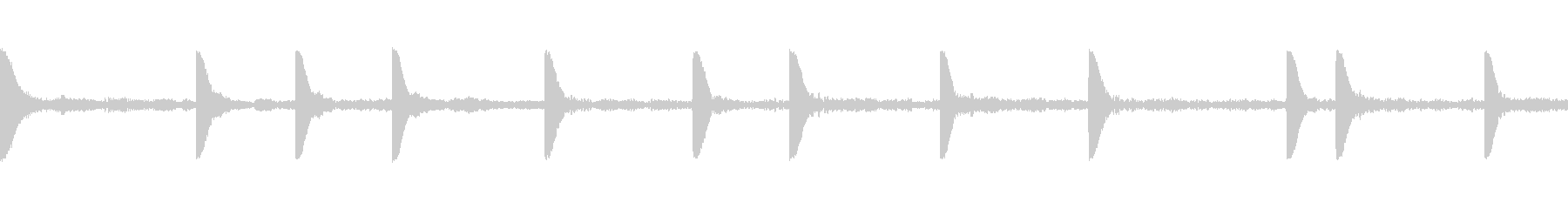 EDM PluckLoop1 音楽制作用の未再生の波形