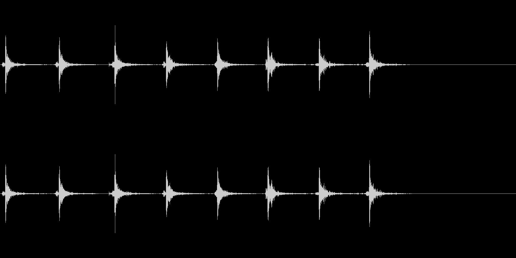 【生録音】神楽鈴 手に当てた音の未再生の波形