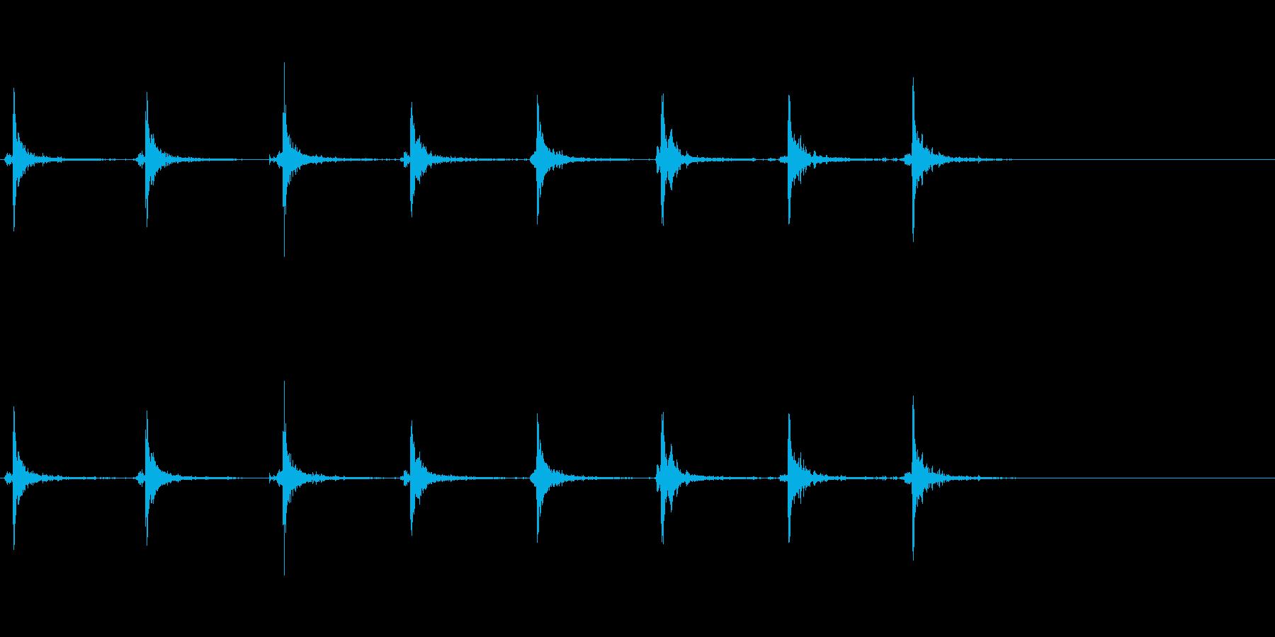 【生録音】神楽鈴 手に当てた音の再生済みの波形