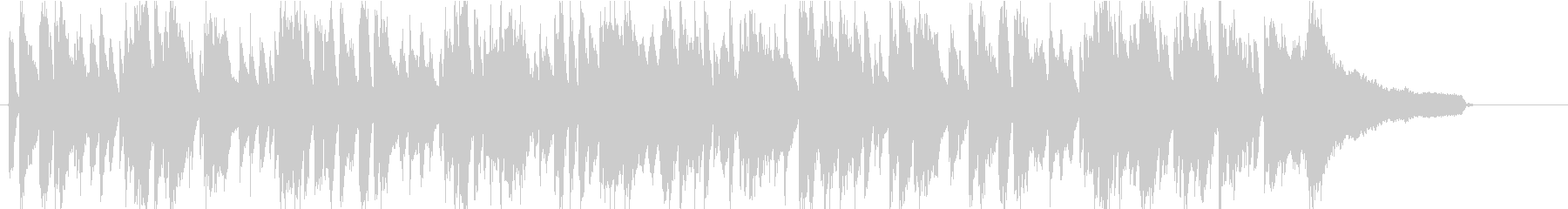 爽やかでミニマルなボサノバの未再生の波形