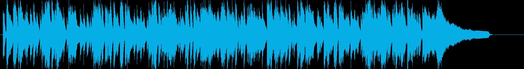 爽やかでミニマルなボサノバの再生済みの波形