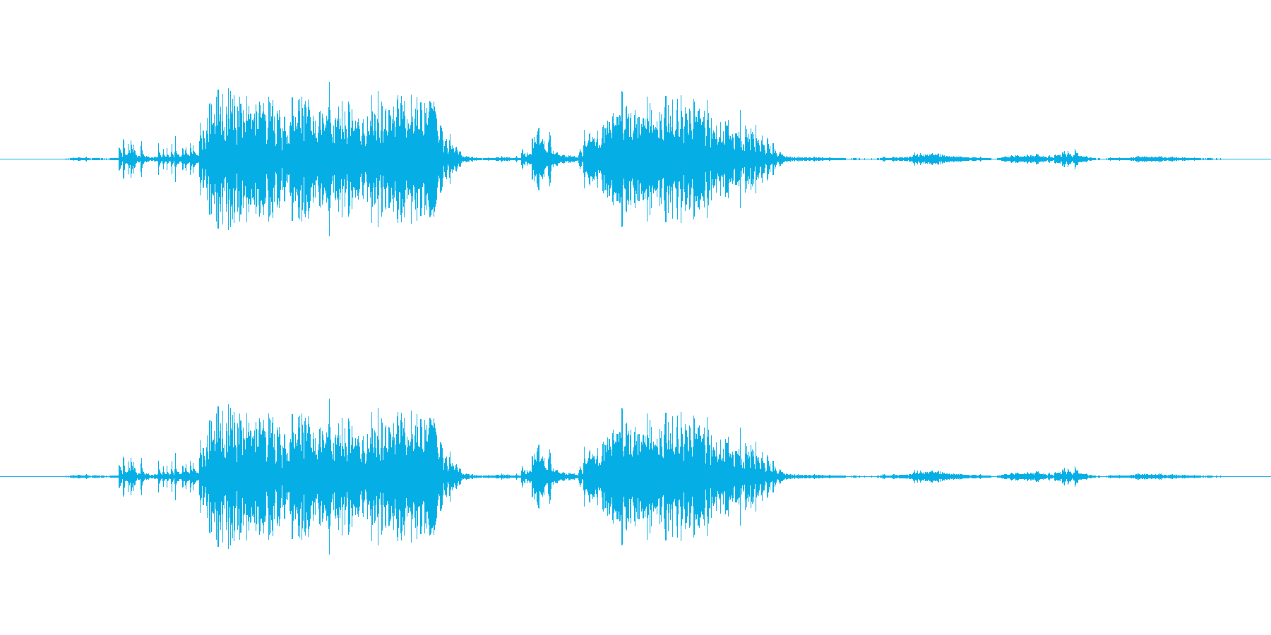 ヒョウギャグ。のど。パースペクティ...の再生済みの波形