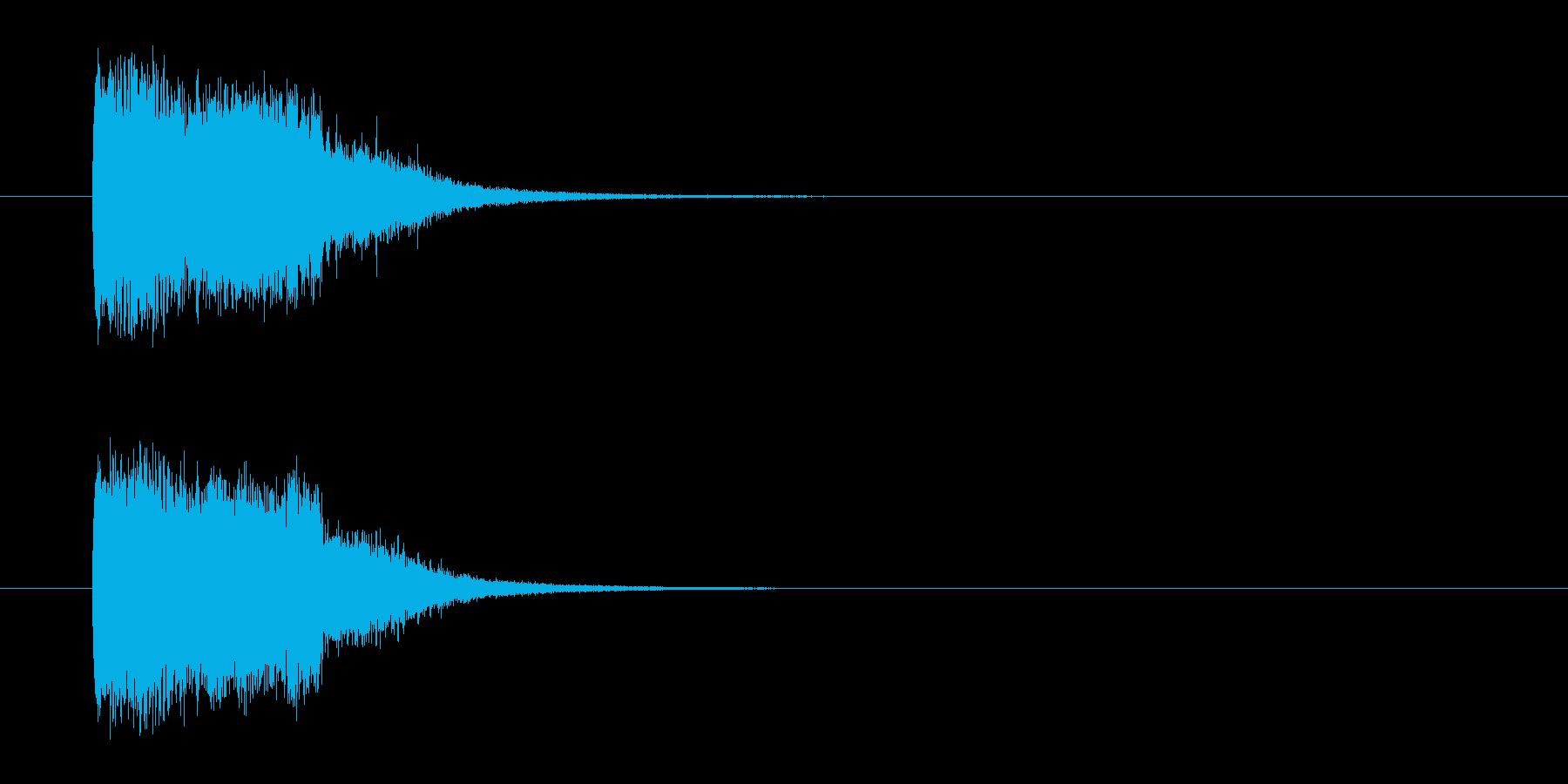 バトルアニメ風効果音_02の再生済みの波形