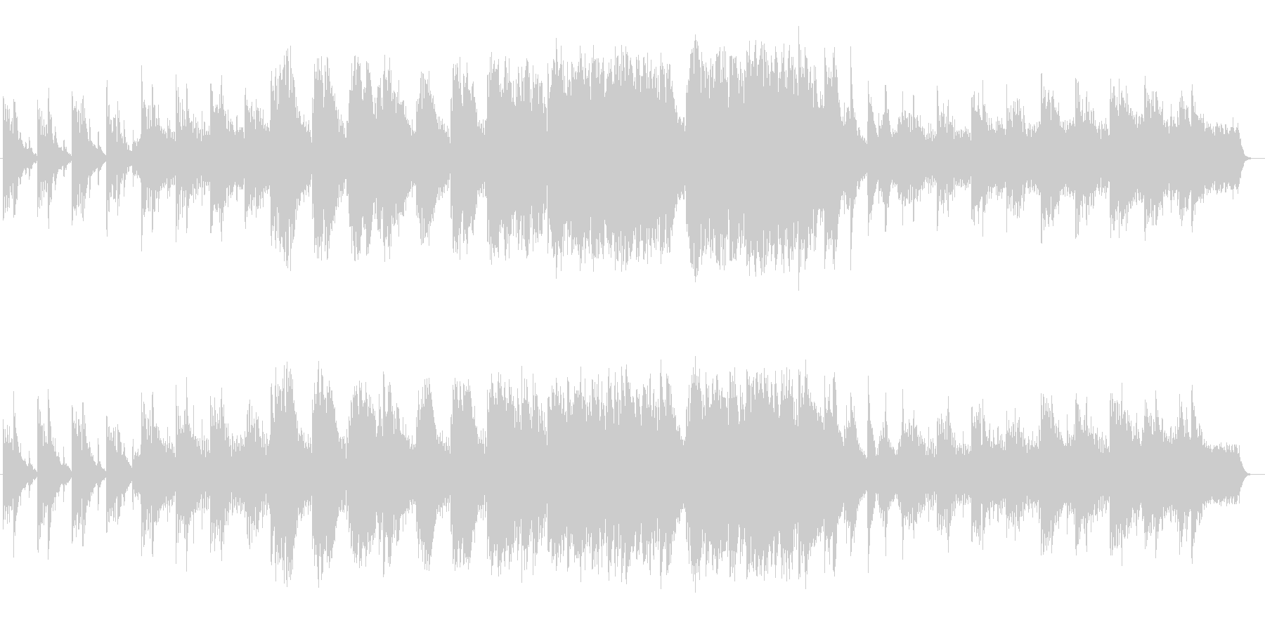 切ないバラードのようなBGMの未再生の波形