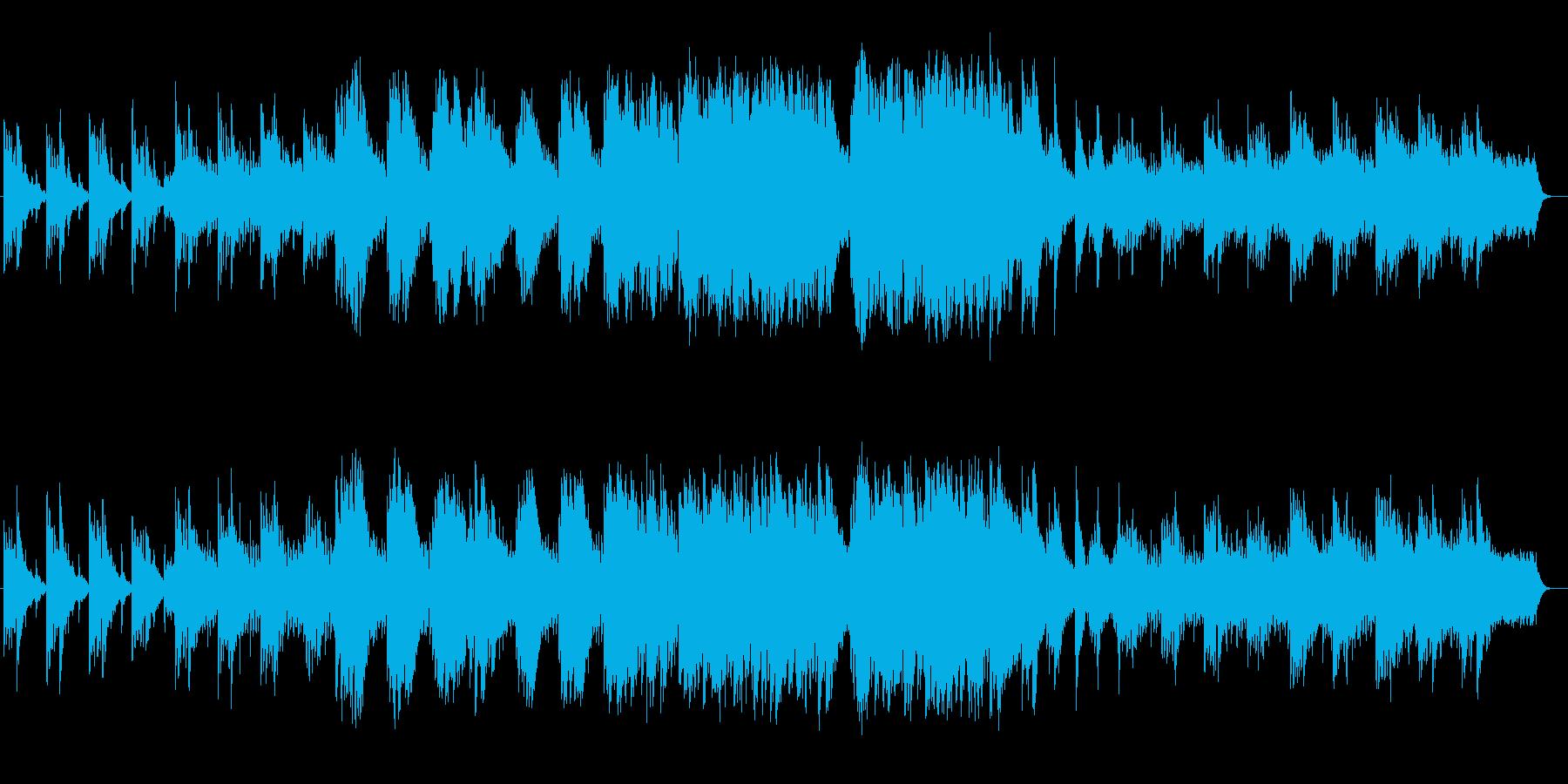 切ないバラードのようなBGMの再生済みの波形
