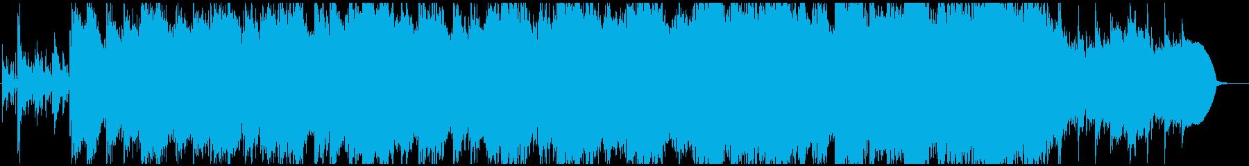 アンビエントでハッピーな曲の再生済みの波形