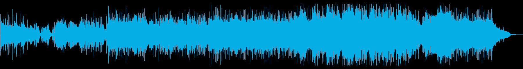 ほのぼのとカレーを食べようと歌うポップスの再生済みの波形