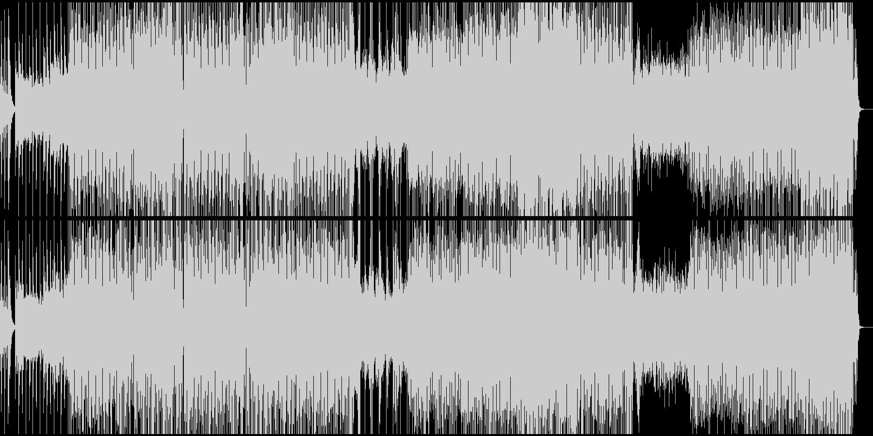 琴、和テイストのビートBGMの未再生の波形