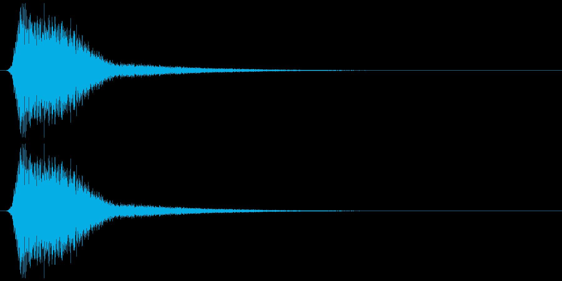 ミサイルの軌跡、キレの良いジェット音の再生済みの波形