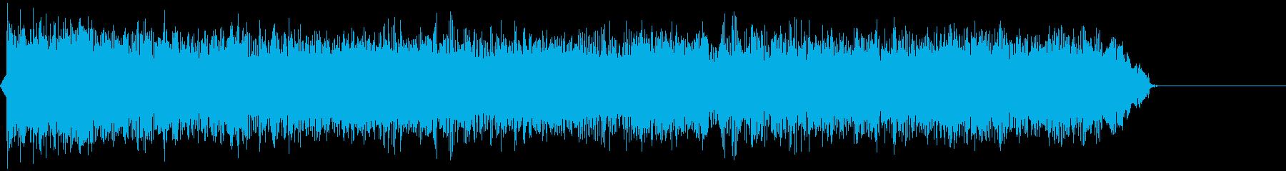 シンプルなロックギターフレーズの再生済みの波形